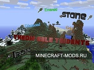 Throw-able Tridents Mod (1.4.5) - Моды для minecraft