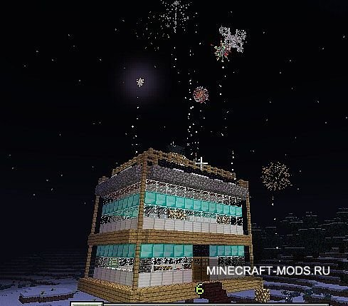 Simple Floating House w/ Fireworks (Карта) - Карты для minecraft