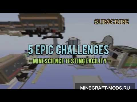 5 Epic Challenges - Minescience Testing Facility (Карта) - Карты для minecraft