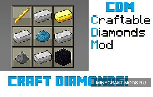 Craftable Diamonds (1.5.2) - Моды для minecraft