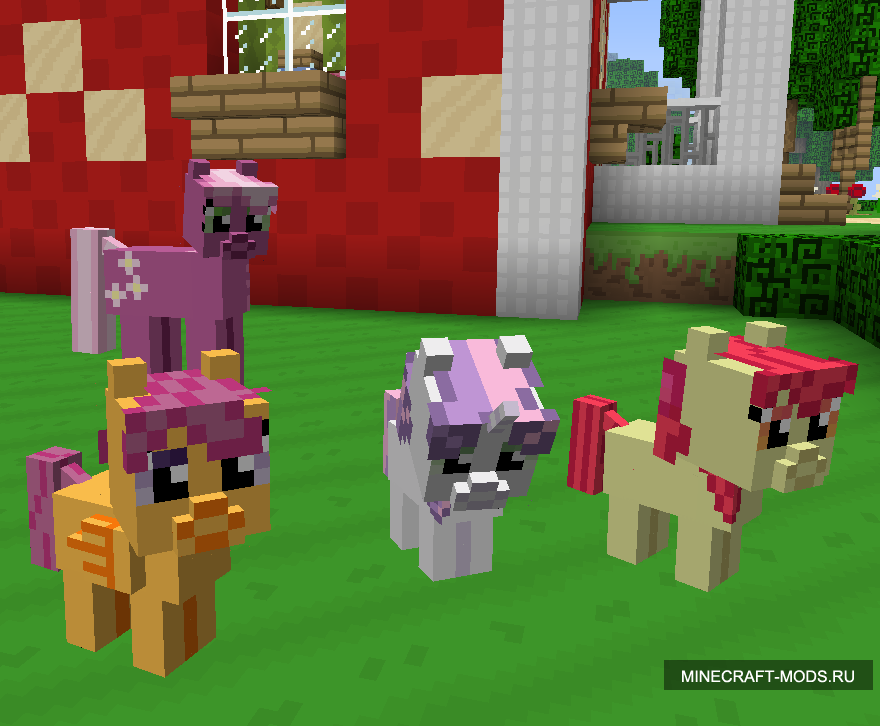 Мод mine little pony для minecraft 1. 6. 4.
