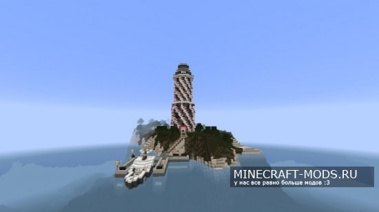 Futuristic Redstone Lighthouse [Карта]