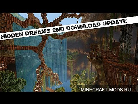 The Underground World Of Hidden Dreams! (Карта) - Карты для minecraft