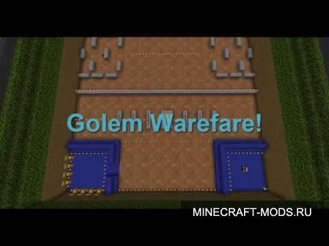 Golem Warfare! Team V.S Team Mini game (Карта) - Карты для minecraft